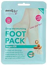 Парфюмерия и Козметика Възстановяваща маска-чорапи за крака с арганово масло - Derma V10 Foot Mask Argan Oil
