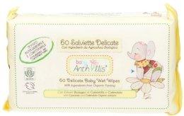 Парфюмерия и Козметика Бебешки мокри кърпички, 60бр. - Anthyllis Cleansing Wipes