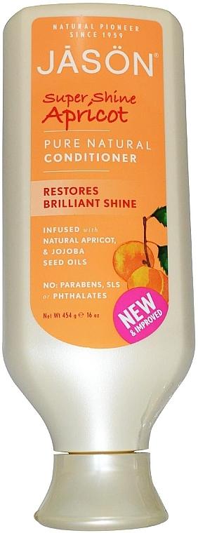 Балсам за коса за блясък с масло от кайсия - Jason Natural Cosmetics Apricot Pure Natural Conditioner — снимка N1
