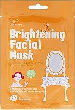 Парфюмерия и Козметика Изсветляваща маска за лице от плат - Cettua Brightening Facial Mask