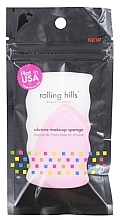 Парфюмерия и Козметика Силиконова гъба за грим, розова - Rolling Hills Silicone Makeup Sponge Pink