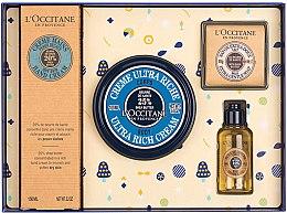 Парфюми, Парфюмерия, козметика Комплект - L'Occitane Karite (крем за ръце/150ml + крем за тяло/100ml + душ масло/35ml + сапун/50g)