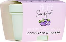 Парфюмерия и Козметика Почистващ мус за лице - Fluff Facial Cleansing Mousse Wild Blueberry