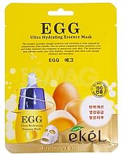 Парфюмерия и Козметика Хидратираща памучна маска за лице с жълтък - Ekel Egg Ultra Hydrating Mask