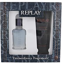Парфюмерия и Козметика Replay Jeans Spirit! For Him - Комплект (тоал. вода/30ml + душ гел/100ml)