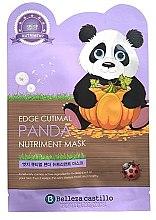 """Парфюми, Парфюмерия, козметика Памучна маска за лице """"Панда"""" - Belleza Castillo Edge Cutimal Panda Nutriment Mask"""