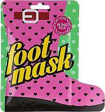 Парфюмерия и Козметика Маска за крака с масло от ший - Bling Pop Shea Butter Healing Foot Mask