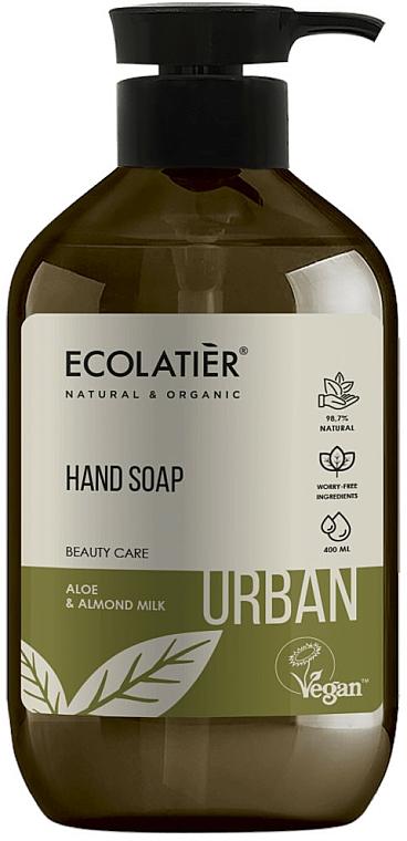 Течен сапун за ръце с алое и бадемово мляко - Ecolatier Urban Liquid Soap