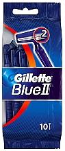 Парфюмерия и Козметика Комплект самобръсначки, 10 бр - Gillette Blue II Disposable Men's 2-Blade Travel Razors with Razor Blades