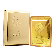 Парфюмерия и Козметика Памучна маска за лице със злато и екстракт от охлюв - Elizavecca 24k Gold Water Dew Snail Mask