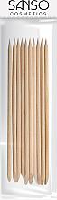 Парфюмерия и Козметика Портокалови пръчици за избутване на кожички, 20 бр. - Sanso Cosmetics