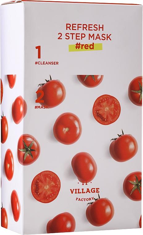 Двуфазна маска за лице с домат - Village 11 Factory Refresh 2-Step Mask Red — снимка N1