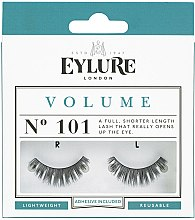 Парфюмерия и Козметика Изкуствени мигли №101 с лепило - Eylure Volume False Eyelashes No.101