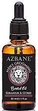 "Парфюмерия и Козметика Масло за брада ""Мушкато и цитрус"" - Azbane Mens Grooming Beard Oil Geranium & Citrus"