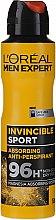 Парфюмерия и Козметика Дезодорант-антиперспирант за мъже - L'Oreal Men Expert Invincible Sport Deodorant 96H