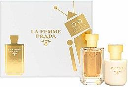 Парфюмерия и Козметика Prada La Femme Prada - Комплект (парф. вода/50ml + лосион за тяло/100ml)
