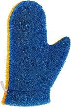 """Парфюмерия и Козметика Масажна ръкавица """"Aqua"""", 6021, синьо-жълта - Donegal Aqua Massage Glove"""