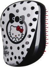 Парфюми, Парфюмерия, козметика Компактна четка за коса - Tangle Teezer Compact Styler Hello Kitty Black Brush