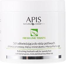 Парфюмерия и Козметика Освежаваща соли за вана, за крака - APIS Professional Fresh Lime Terapis Lime Peeling For Feet With Volcanic Lava