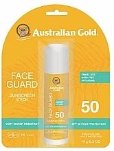 Парфюмерия и Козметика Слънцезащитен стик балсам за лице - Australian Gold Face Guard SPF 50