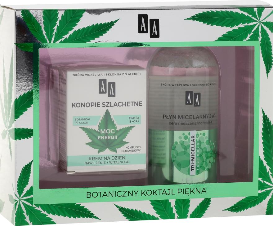 Комплект за лице - AA Cosmetics Moc Energy (мицел. вода/400ml + крем за лице/50ml) — снимка N1