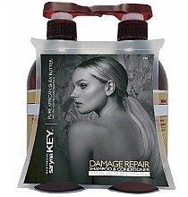 Парфюми, Парфюмерия, козметика Комплект за възстановяване на косата - Saryna Key Pure African Shea (шампоан/500ml + балсам/500ml)
