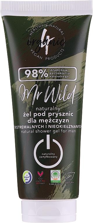 Душ гел за мъже - 4Organic Mr. Wild Man Shower Gel
