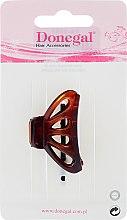 Парфюмерия и Козметика Щипка за коса FA-5805, прозрачен кехлибар - Donegal