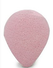 Парфюмерия и Козметика Гъба за измиване, капка, с розова глина - Bebevisa Konjac Sponge