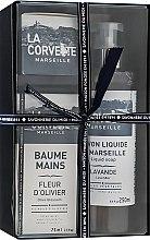 """Парфюмерия и Козметика Подаръчен комплект """"Прованс"""" - La Corvette """"Provence"""" (soap/100g + soap/250ml + h/cr/75ml)"""