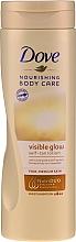 Парфюмерия и Козметика Лосион за тяло с автобронзиращ ефект - Dove Visible Glow Gradual Self-Tan Lotion Fair-Medium Skin