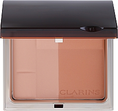 Парфюмерия и Козметика Бронзираща компактна пудра - Clarins Bronzing Duo Mineral Powder Compact SPF 15