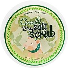 Парфюмерия и Козметика Скраб за тяло с екстракт от зелен чай и какао - Elizavecca Greentea Salt Body Scrub