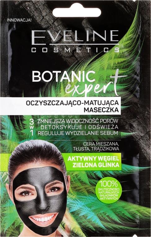 Почистваща и матираща маска за лице - Eveline Cosmetics Botanic Expert Purifying & Mattifying Face Mask