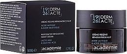 Парфюмерия и Козметика Нощен подмладяващ ексфолиращ крем за лице - Academie Peeling Renovatrice Nuit Acide Lactique & Acide Salicylique