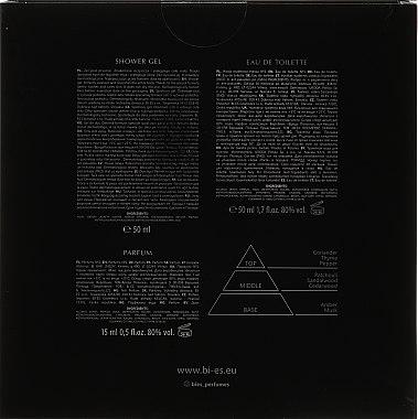 Bi-es No 1 - Комплект (парф. вода/50ml + душ гел/50ml + парфюм/15ml) — снимка N2