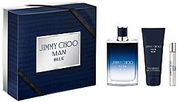 Парфюми, Парфюмерия, козметика Jimmy Choo Man Blue - Комплект (тоал. вода/100ml + афтър. балсам/100ml + тоал. вода/7.5ml)
