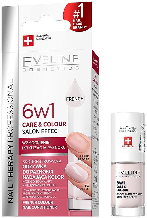 Укрепващ лак за нокти 6в1 - Eveline Cosmetics Nail Therapy Professional