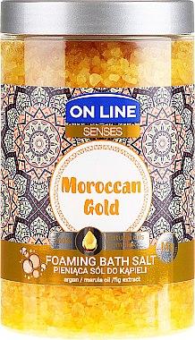 Соли за вана - On Line Senses Bath Salt Moroccan Gold — снимка N2