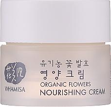 Парфюмерия и Козметика Подхранващ крем за лице - Whamisa Organic Flowers Nourishing Cream (мини)