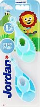 Парфюмерия и Козметика Детски четки за зъби, 0-2 години, синя+светлосиня - Jordan Step By Step Soft & Gentle