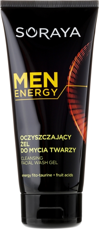 Почистващ гел за лице - Soraya Men Energy — снимка N1