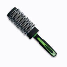 """Парфюми, Парфюмерия, козметика Четка за коса """"Neon"""" кръгла 47мм, 63725, черна със зелено - Top Choice"""