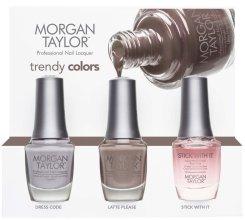 Парфюми, Парфюмерия, козметика Комплект лак за нокти - Morgan Taylor Trendy Colors Trio (nail/3х15ml)