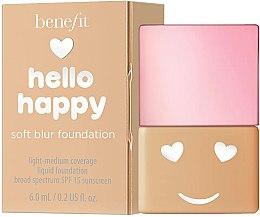Парфюмерия и Козметика Фон дьо тен - Benefit Hello Happy Soft Blur Foundation (мини)