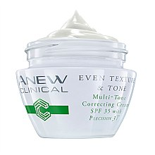 Парфюмерия и Козметика Крем за изравняване на тена кожата SPF 35 - Avon Anew Clinical Even Texture & Tone Multi-Tone Correcting Cream SPF 35
