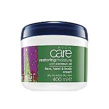 Парфюми, Парфюмерия, козметика Интензивно възстановяващ крем за лице, ръце и тяло с кокосово мляко - Avon Restoring Moisture With Coconut Oil