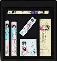Парфюмерия и Козметика Roroko Coral Wonder Girl Make-up Box (молив за вежди/0.4g + сенки/8g + очна линия/0.8g + руж/6g + спирала/8g + червило/3.5g) - Комплект за грим