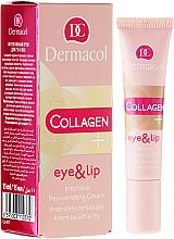 Парфюмерия и Козметика Интензивено подмладяващ крем за зоната около очите и устни - Dermacol Collagen+ Eye & Lip Cream