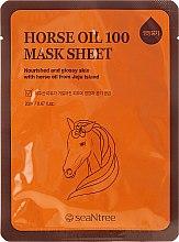 Парфюми, Парфюмерия, козметика Маска за лице от плат с конско масло - SeaNtree Horse Oil 100 Mask Sheet